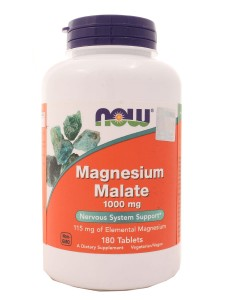 Magnesium Malate Jabłczan magnezu 1000mg - Now - 180 kaps