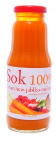 Sok marchew jabłko malina - Cinna - 300ml