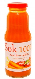 Sok marchew jabłko 100 % - Cinna - 300ml